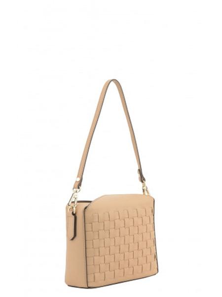 Bilde av Pourchet - Cassetta Braided crossbody bag - camel