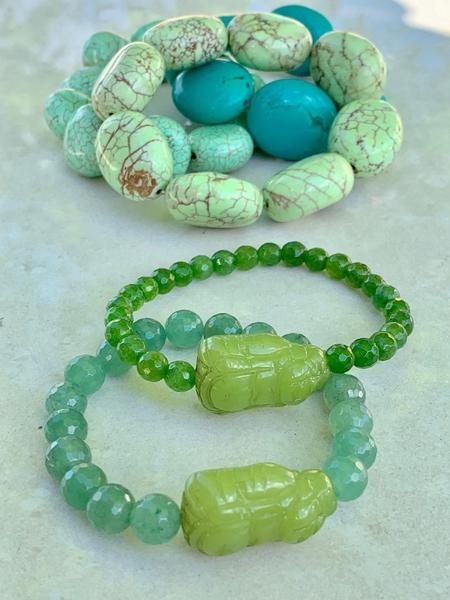 Bilde av Caprice Decadent - Chunky Bracelet - Light Green