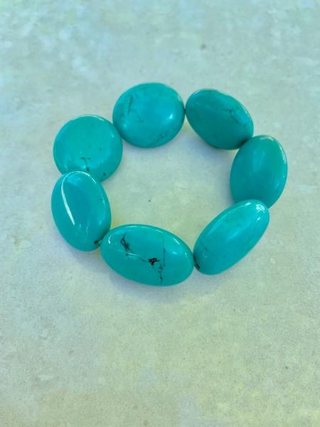 Bilde av Caprice Decadent - Chunky Bracelet - Turquoise