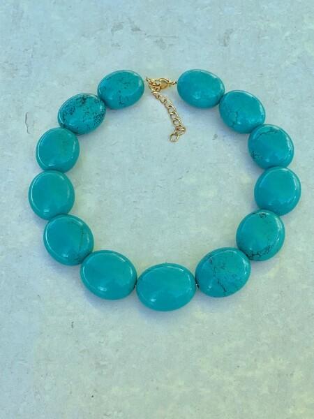 Bilde av Caprice Decadent - Chunky Necklace - Turquoise