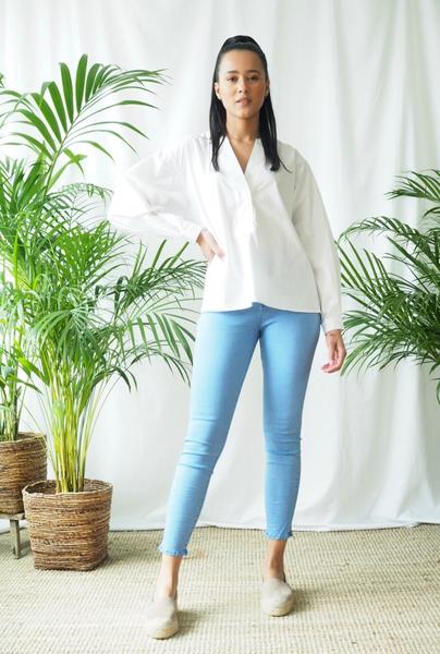 Bilde av Mapp - Bow Twill Trousers - Cobalt
