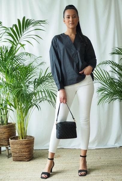 Bilde av Mapp - Bow Twill Trousers - White
