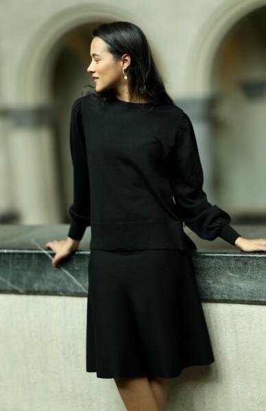 Bilde av Ella&Il - Darja Merino Skirt - Black