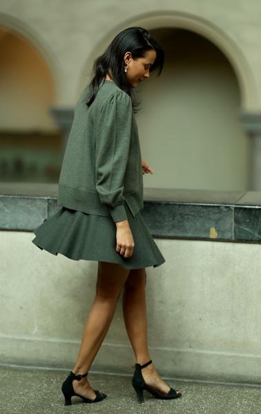 Bilde av Ella&Il - Triny Merino Skirt - Green