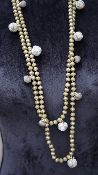 Bilde av Nectar - Soho necklace - Moss