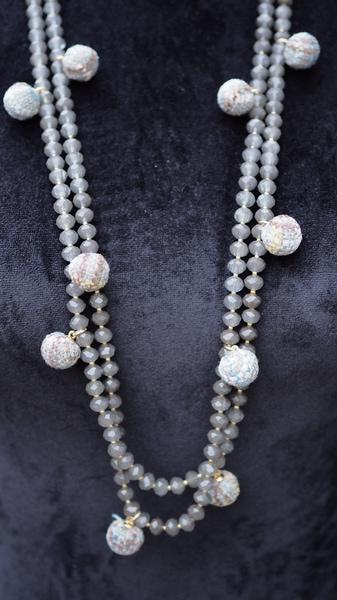 Bilde av Nectar - Soho necklace - Grey