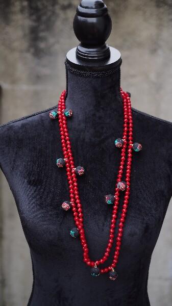 Bilde av Nectar - Rockefeller necklace - Red