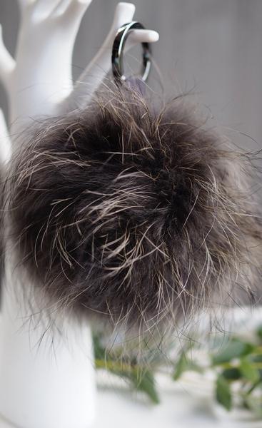 Bilde av Nectar - Fury Pom-pom Keychain Large - Charcoal