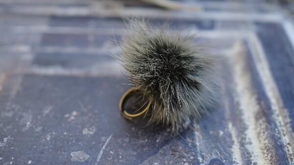 Bilde av Nectar - Fury Pompom Ring - Khaki Green