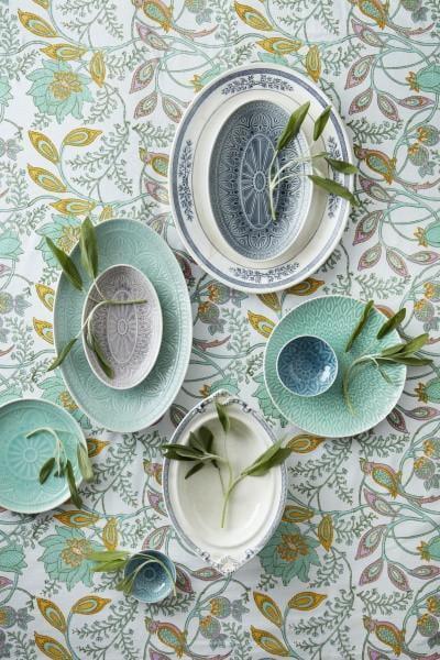Bilde av Oval Dish Large - Chloe Mint