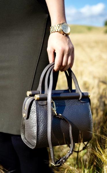 Bilde av Pourchet - Mini nano leather satchel - Bronze