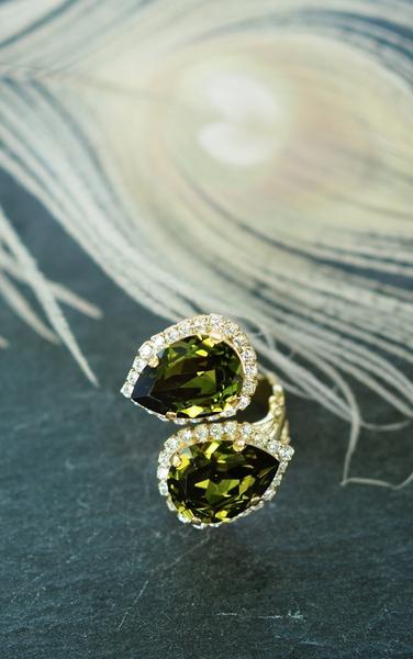 Bilde av Caprice Decadent - Double Bliss Ring - Green