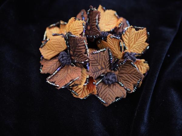 Bilde av Nectar - Hårstrikk Leaves - Orange/Bronze
