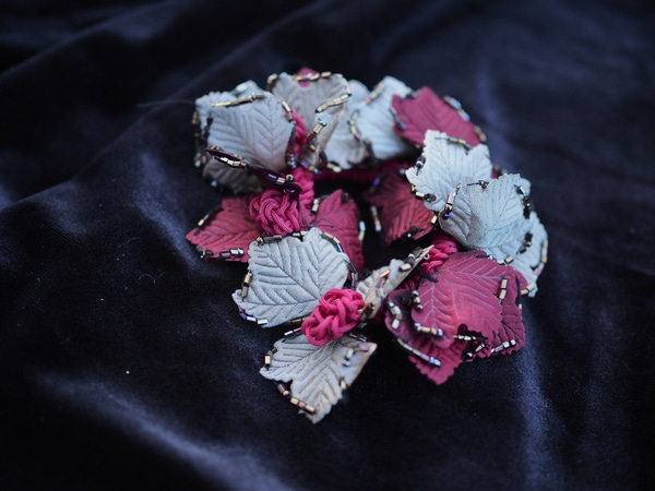 Bilde av Nectar - Hårstrikk Leaves - Burgundy/Beige