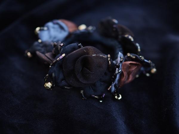 Bilde av Nectar - Hårstrikk Flower Organza - Rust