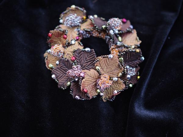 Bilde av Nectar - Hårstrikk Glitter Leaves - Bronze