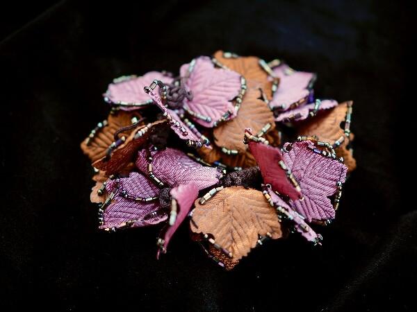 Bilde av Nectar - Hårstrikk Leaves - Bronze/Pink