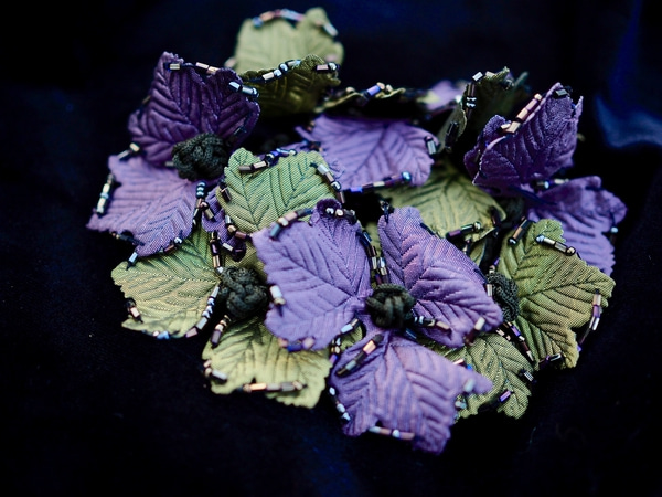 Bilde av Nectar - Hårstrikk Leaves - Green/Lilac