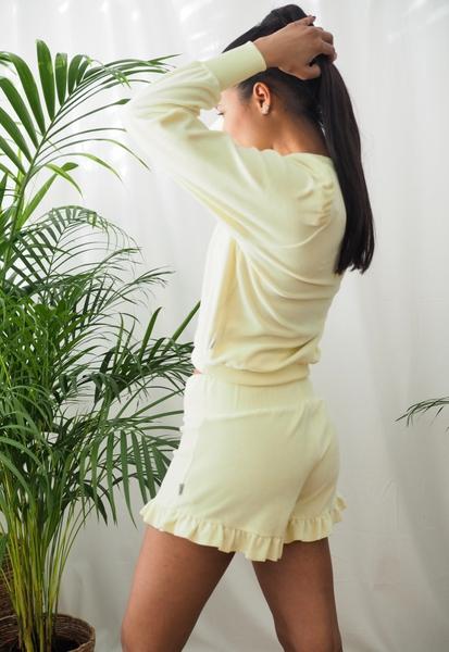 Bilde av Ella&Il - Hay Velour Shorts - Yellow