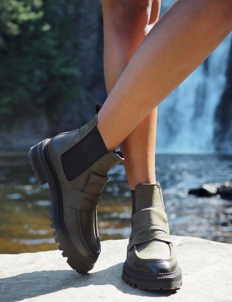 Bilde av Billi Bi - Loafer Boots - Army Green