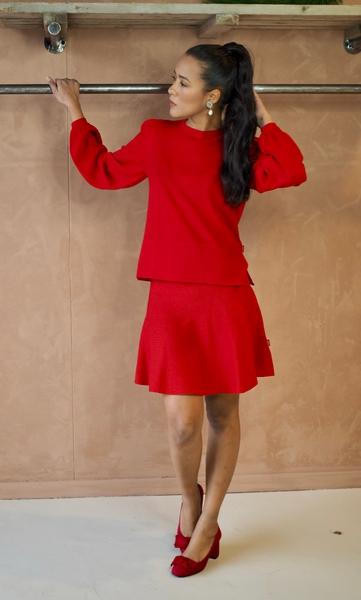 Bilde av Ella&il - Triny Merino Skirt - Red