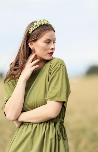 Bilde av Nectar - Lemon and Lime Headband - Yellow/green