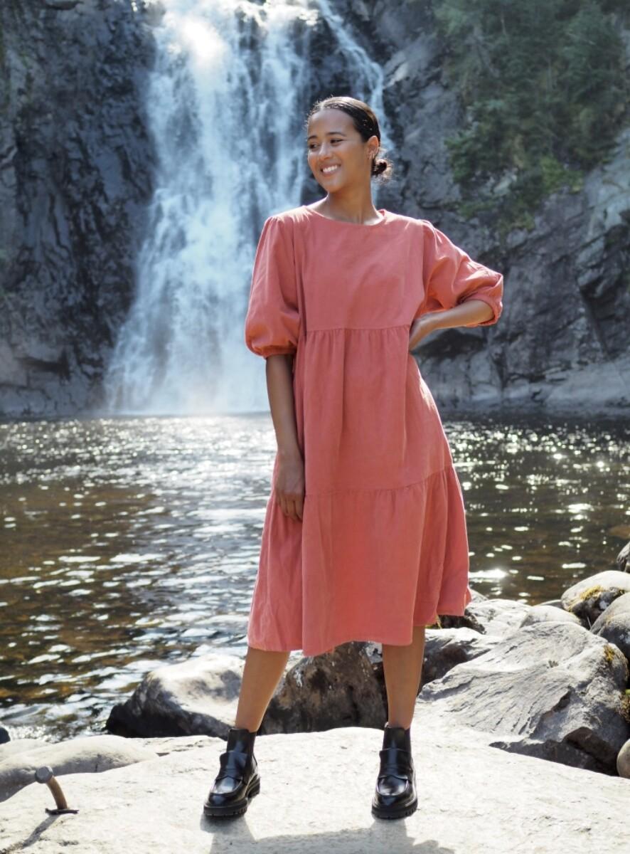 Nectar Clothing - Leah Babycord Dress - Rose Pepper