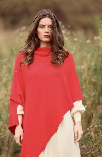 Bilde av Nectar Clothing - Ella Poncho - Red