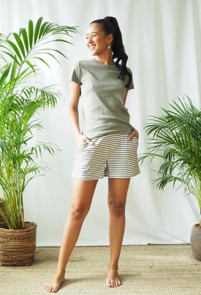 Bilde av Basic Apparel - Saga Shorts - Offwhite/Black