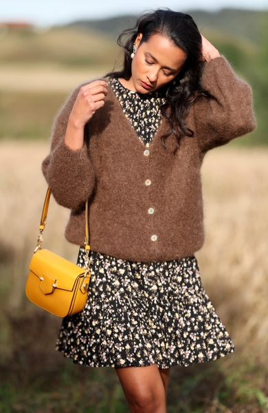 Bilde av Pourchet - Crossbody leather bag - Safran