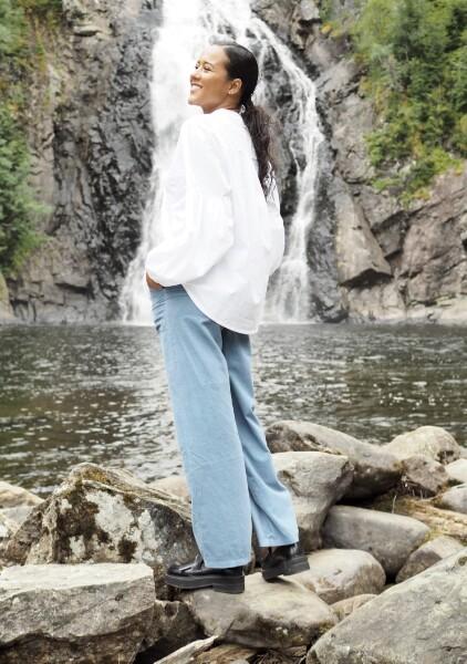 Bilde av Nectar Clothing - Milano Babycord Pants - Denim