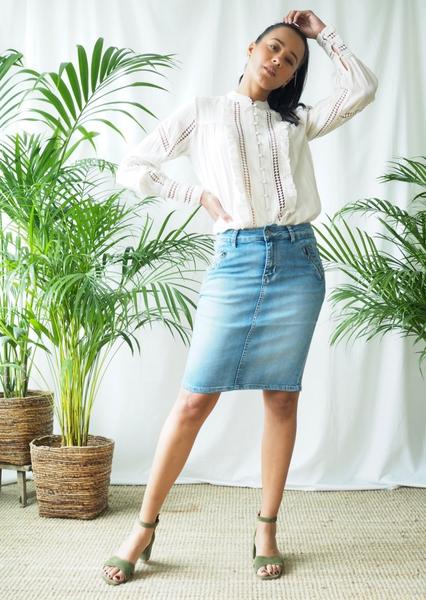Bilde av Mapp - Katy Denim Skirt - Light Blue Used