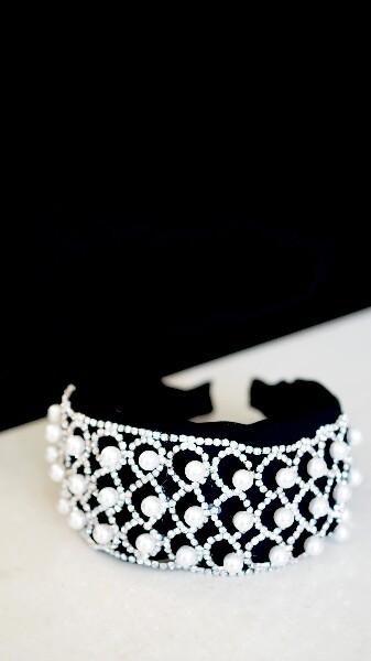 Bilde av Nectar - Sparkle Pearls Headband - White