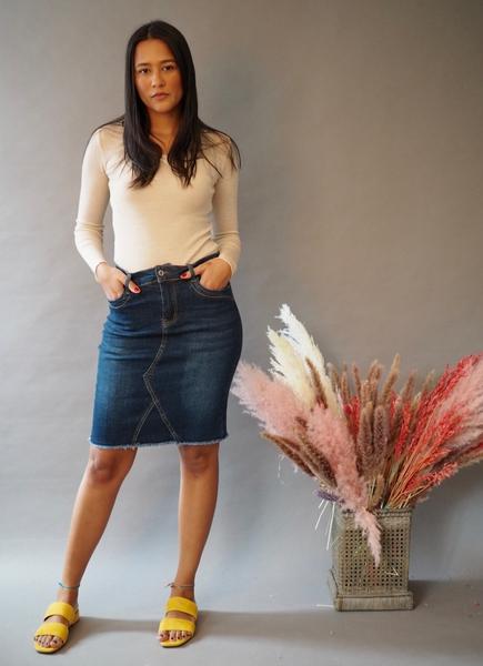Bilde av Mapp - Toxi skirt - Blue Denim Used