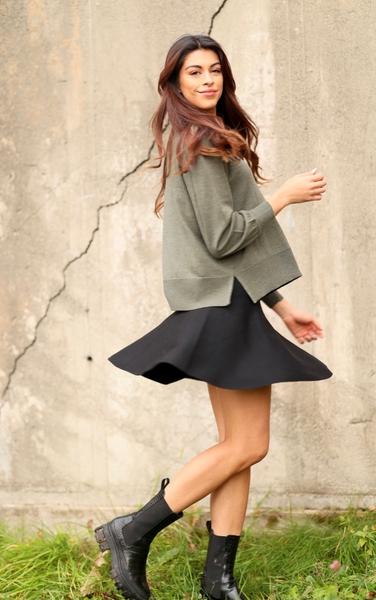 Bilde av Ella&Il - Triny Merino Skirt - Black