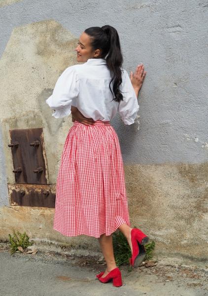 Bilde av By TiMo -  Checks Skirt - Red