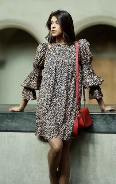 Bilde av By TiMo -  Delicate Shift Dress - Leaves