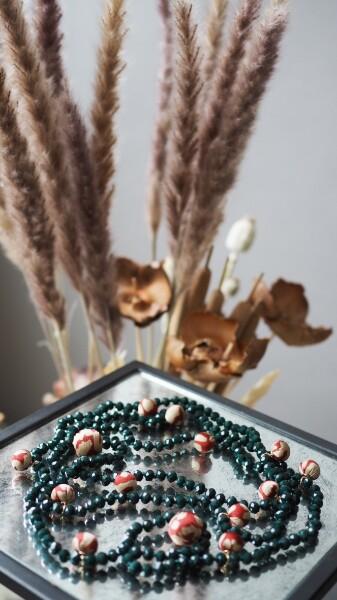 Bilde av Nectar - Rockefeller necklace - Jade Green