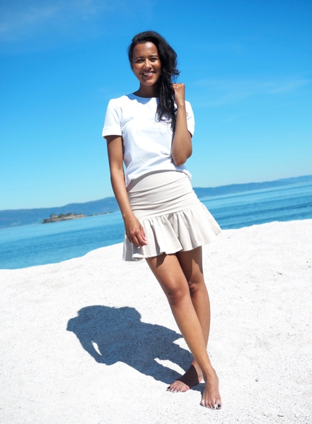 Bilde av Ella&Il - Ginger skirt - Beige
