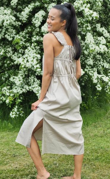 Bilde av Leveté Room - Isla Solid 31 Dress - Oxford tan