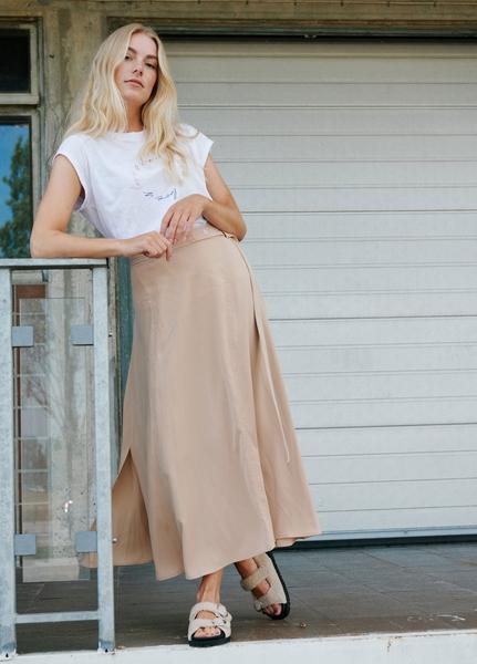 Bilde av Coster - Skirt With Belt Detail - Dark Sand