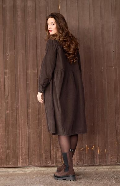 Bilde av Nectar Clothing - Maja Babycord Dress - Chocolate