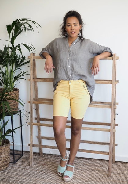Bilde av Mapp - Patti Twill Shorts - Yellow