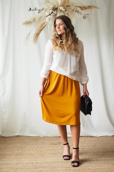 Bilde av Basic Apparel - Joline Skirt - Inca Gold
