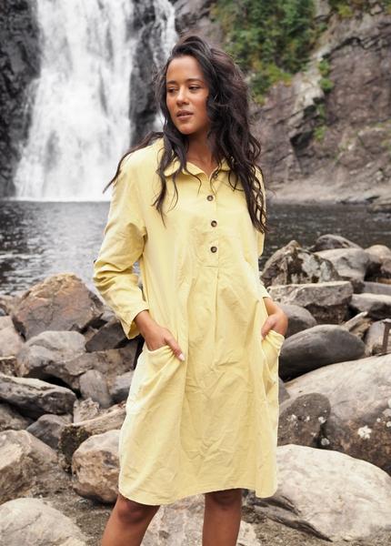 Bilde av Nectar Clothing - Matilde Babycord Dress - Corn