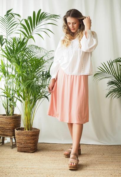 Bilde av Basic Apparel - Joline Skirt - Rose Tan