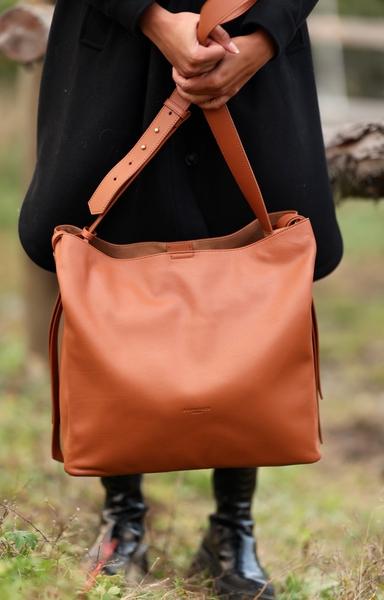 Bilde av Pourchet - Amalie XL Bag - Cognac
