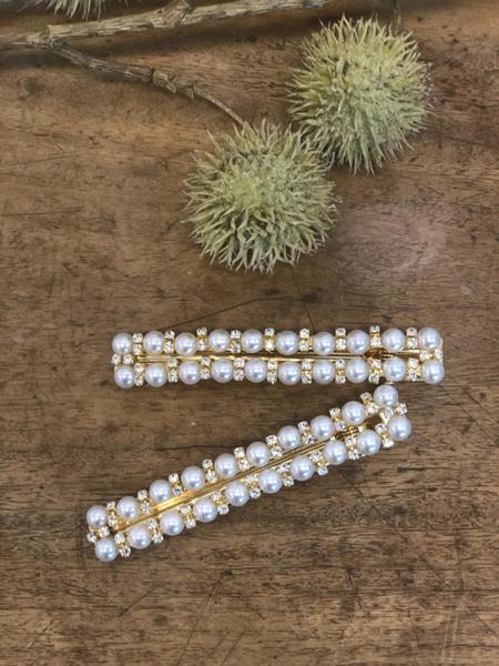 Bilde av Nectar - Hårspenne - Double Row - Diamond&Pearls