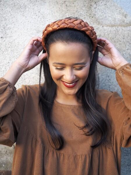 Bilde av Nectar - Braided Headband Shiny - Rust