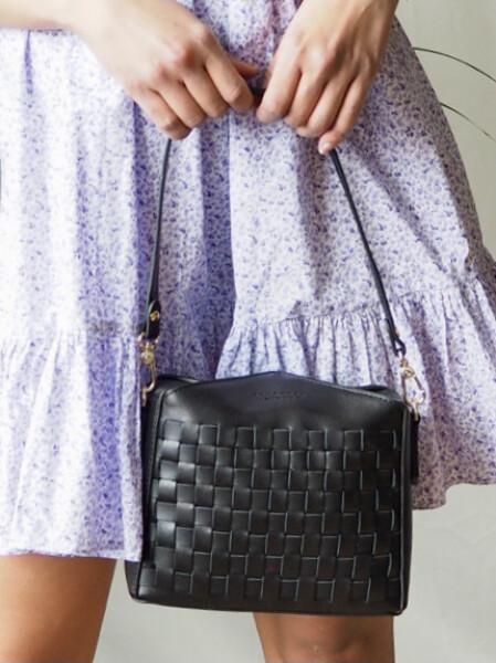 Bilde av Pourchet - Cassetta Braided crossbody bag - Black